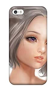Hot 2879569K114709624 anime blonde girl face glance Anime Pop Culture Hard Plastic iPhone 5/5s cases