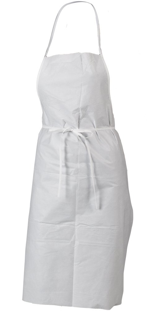 Lakeland MicroMax NS Microporous General Purpose Apron with Sewn Ties, Disposable, 36'' Length x 28'' Width, White (Case of 100)