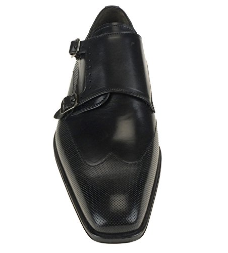 Mezlan Mens 16285 Double Monk Strap Oxfords Nero