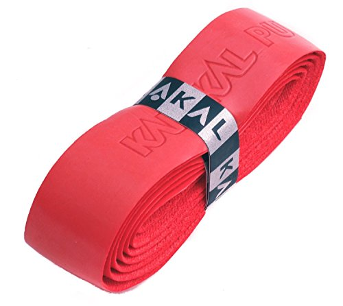 Karakal PU Supergrip replacement racquet grip tennis / badminton / squash red x 6