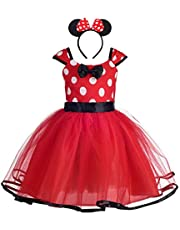 Dressy Daisy Baby Toddler Girl Polka Dots Fancy Dress Up Costume Birthday Party Tulle Dresses Size 12M-5