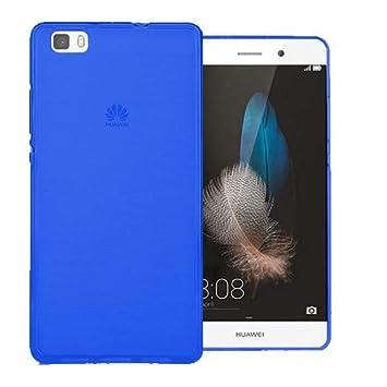 Mb Accesorios Funda Carcasa Gel Azul para Huawei P8 Lite 2016, Ultra Fina 0,33mm, Silicona TPU de Alta Resistencia y Flexibilidad