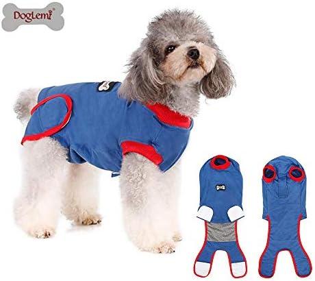 Doglemi Dog Recovery Suit, Recovery Shirt für Hunde Katzen nach der Operation, männliche Hündin Bauch Wunden Bandagen Perfect Cone E-Collar Alternative, Anti-Licking Pet Surgical Recovery Anzug