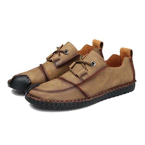 Khaki Shoes Soft In Driving Comfort Uomo Casual Scarpe Stagioni Pelle Fashion Dermis x6ZwxqPTf