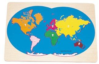 Amazon montessori world continent knob puzzle toys games montessori world continent knob puzzle gumiabroncs Images