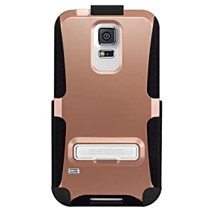 Seidio BD2-HK3SSGS5K-RG DILEX Case and Holster with Metal Kickstand for Samsung Galaxy S5 - Rose Gold