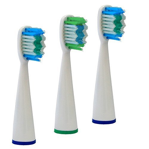 Xtech Replacement Brush Heads for XHST-100 Ultrasonic Toothbrush (3 Pack)