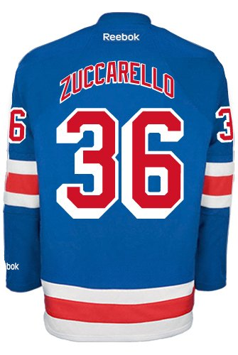 Mats Zuccarello New York Rangers NHL Home Reebok Premier Hockey Jersey   Amazon.co.uk  Sports   Outdoors 45f07fc94