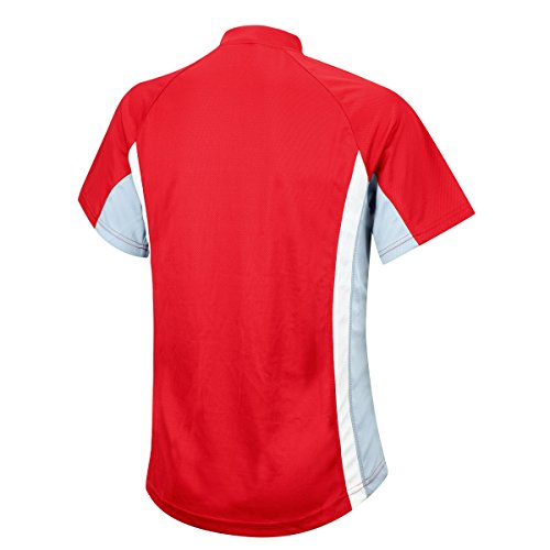 De Courtes shirt T Airtracks Funktions T atumungs Manches fonctionnel shirt running Actif Course Rouge respirant 0AOtqa