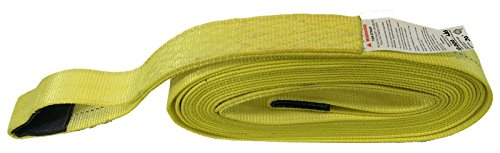 3″ X 50 Ft Double Ply Recovery Strap with Wear Pad In Loops