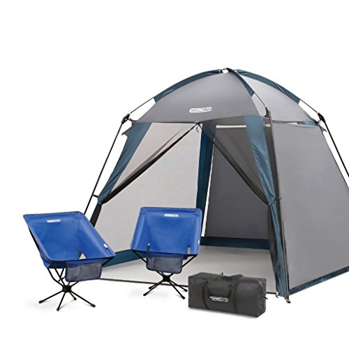 Portable Sports Canopy : Compaclite deluxe screened shelter chair set portable