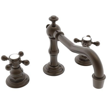 Newport Brass 930/03W Chesterfield Double Handle Widespread Lavatory Faucet with Metal Cross Handles (, Weathered Brass (Handle Double Brass 930)