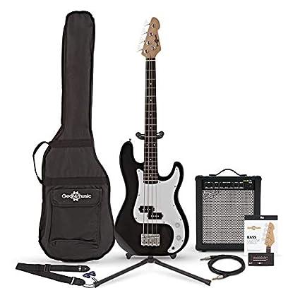 Bajo LA de Escala Corta + Amplificador de 35 W Black: Amazon.es ...