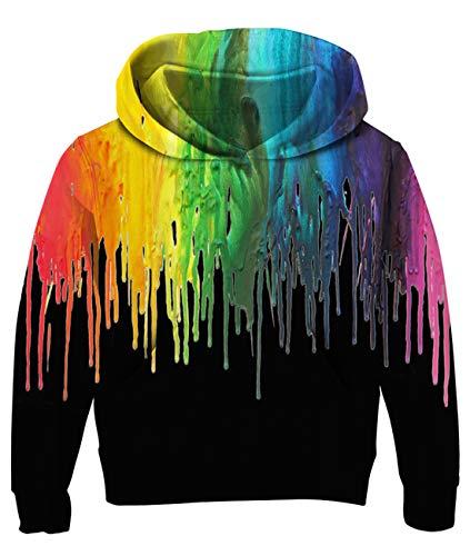 Cutemile Boys Girls Fleece Hoodies Novelty 3D Graphic Hoody Long Sleeve Sweatshirts Pullover with Pocket 5-13T