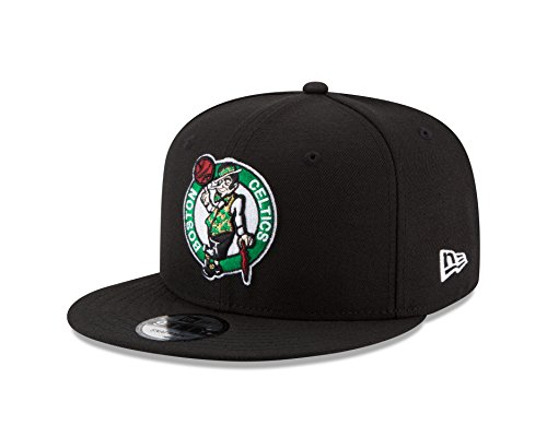 NBA Boston Celtics Men's 9Fifty Team Color Basic Snapback Cap, One Size, - Celtics Boston Hats Era New