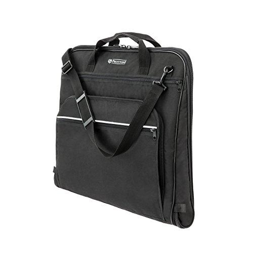 Prottoni 44' Garment Bag with YKK Elements- Built-in Hook - Shoulder Strap - Suit Bag for Travel