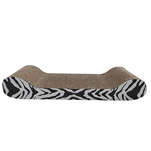 Catit Style Scratcher with Catnip - Tiger Cat Print