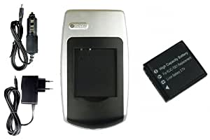 Batería + Cargador D-Li213 para BenQ DC E1050, DC E1050T, DC E1220