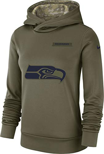 Nike Women's Therma-FIT Seattle Seahawks NFL Salute to Service Hoodie Size Small
