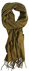 Decorbox(TM) Solid Color Cashmere Feel Men's Winter Scarf (Army Green)