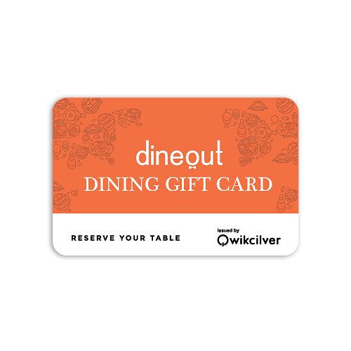Get Flat 20% off at Checkout||Dineout Dining Gift Card-1 Card for more than 700 restaurants