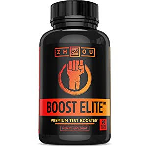 BOOST ELITE Test Booster Formulated to Increase T-Levels, Vitality & Energy - 9 Powerful Ingredients Including Tribulus, Fenugreek, Yohimbe, Maca, Horny Goat Weed & Tongkat Ali, 90 Veggie Caps