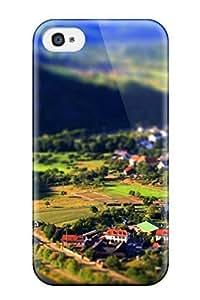 Durable Defender Case For Iphone 4/4s Tpu Cover(tilt Shift)