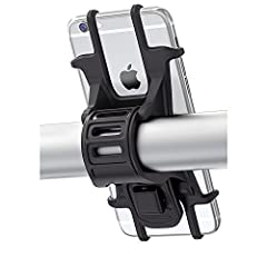 Bovon Universal Bike Phone Mount Perfect companion for any bicycle or motorcycle enthusiast. One bike mount for all: calls, music, maps, time, or location.Secured Safely  Super flexible premium silicone absorbs all shocks while offering a fir...