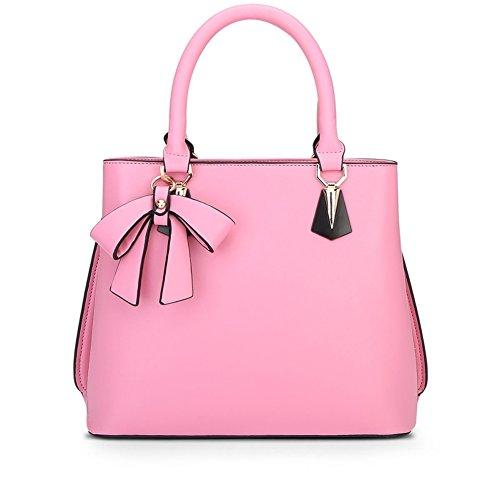 2016 new Korean Stylish Soft leather bag lady's Backpack – Black - 8