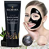 Blackhead Remover Mask,Black Mask Blackhead Remover Purifying Black Peel Off Mask, Activated Charcoal Deep Cleansing Facial Acne Pore Cleaner (60g)