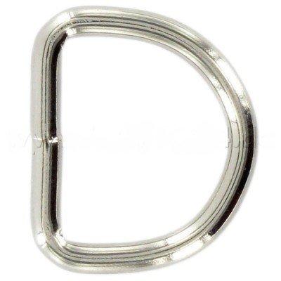 SolPortalHome 25mm D-Ringe geschweißt aus 3,4mm dickem Stahl, vernickelt, 10 Stück