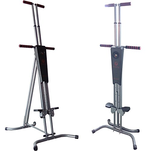 Hansentus Reinforced Vertical Climber Machine foldable Exercise Stepper / Fitness Climbing Machine for Home Trainer