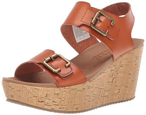 - Skechers Women's BRIT-High-Wedge Quarter Strap Sandal, Chestnut 7 M US