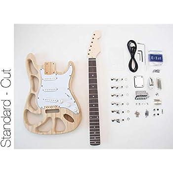 the fretwire diy electric guitar kit st style build your own guitar alder cut body. Black Bedroom Furniture Sets. Home Design Ideas