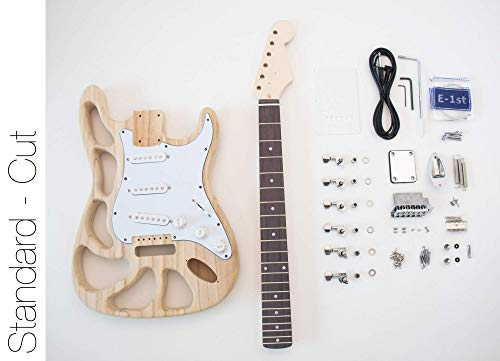 The FretWire DIY Electric Guitar Kit - ST Style Build Your Own Guitar Alder Cut Body