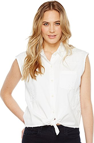 Joe's Jeans Women's Vivian White Denim Shirt, White Lawn, S