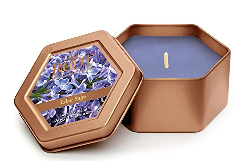 Root Legacy Travel Tin Beeswax Candle  Lilac Sage