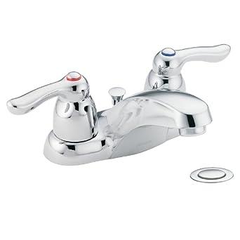Beautiful Moen 4925 Chateau Two Handle Low Arc Bathroom Faucet, Chrome