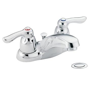 Moen 4925 Chateau Two Handle Low Arc Bathroom Faucet, Chrome