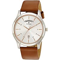 Titan On Trend White Dial Analog with Day and Date Watch for Men