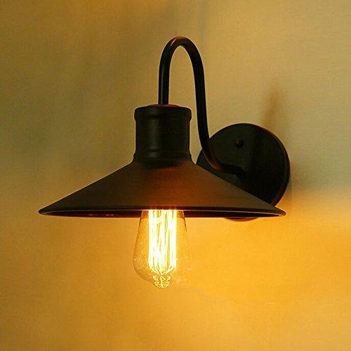 SUSUO Lighting Industrial Edison Simplicity 1 Light Wall Sconces Gooseneck Lamp Wall Mounted Lighting Black