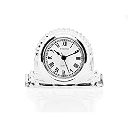 Godinger Shannon Small Silver Accent Mantle Around Face Clock - color Clear
