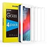 [4 Pack] Screen Protector for iPhone Xs/iPhone X, SPARIN Tempered Glass Screen Protector for iPhone Xs/X (5.8 Inch) - Alignment Frame/Highly Responsive/Case Friendly