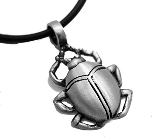 (Exoicdream Egyptian Scarab Beetle Pewter Pendant Jewelry + 18
