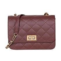 ADISA SL5008 brown women girls quilted sling bag