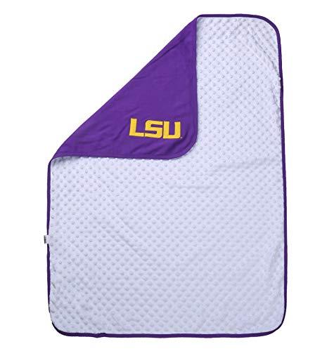 NCAA LSU Tigers Baby Blanket for Boy or Girl Purple