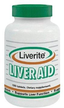 Produits Liverite - Liverite foie aide, 120 comprimés