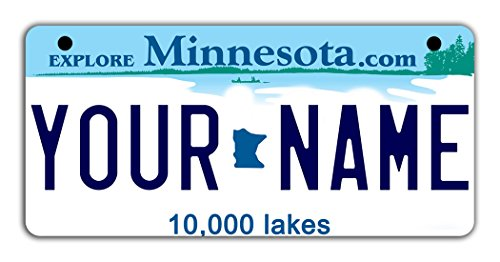 Note Minnesota Twins - BleuReign(TM Personalized Custom Name Minnesota State Motorcycle Moped Golf Cart License Plate Auto Tag