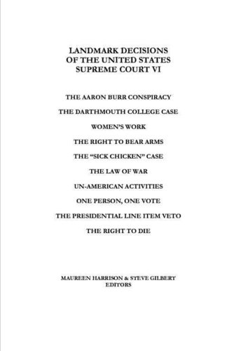 Landmark Decisions of the United States Supreme Court VI (Landmark Decisions Of The United States Supreme Court)