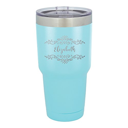 Froolu Thermal Water Bottle - Teal Personalized Laser Engraved Tumbler - Hydro Travel Cup Flask